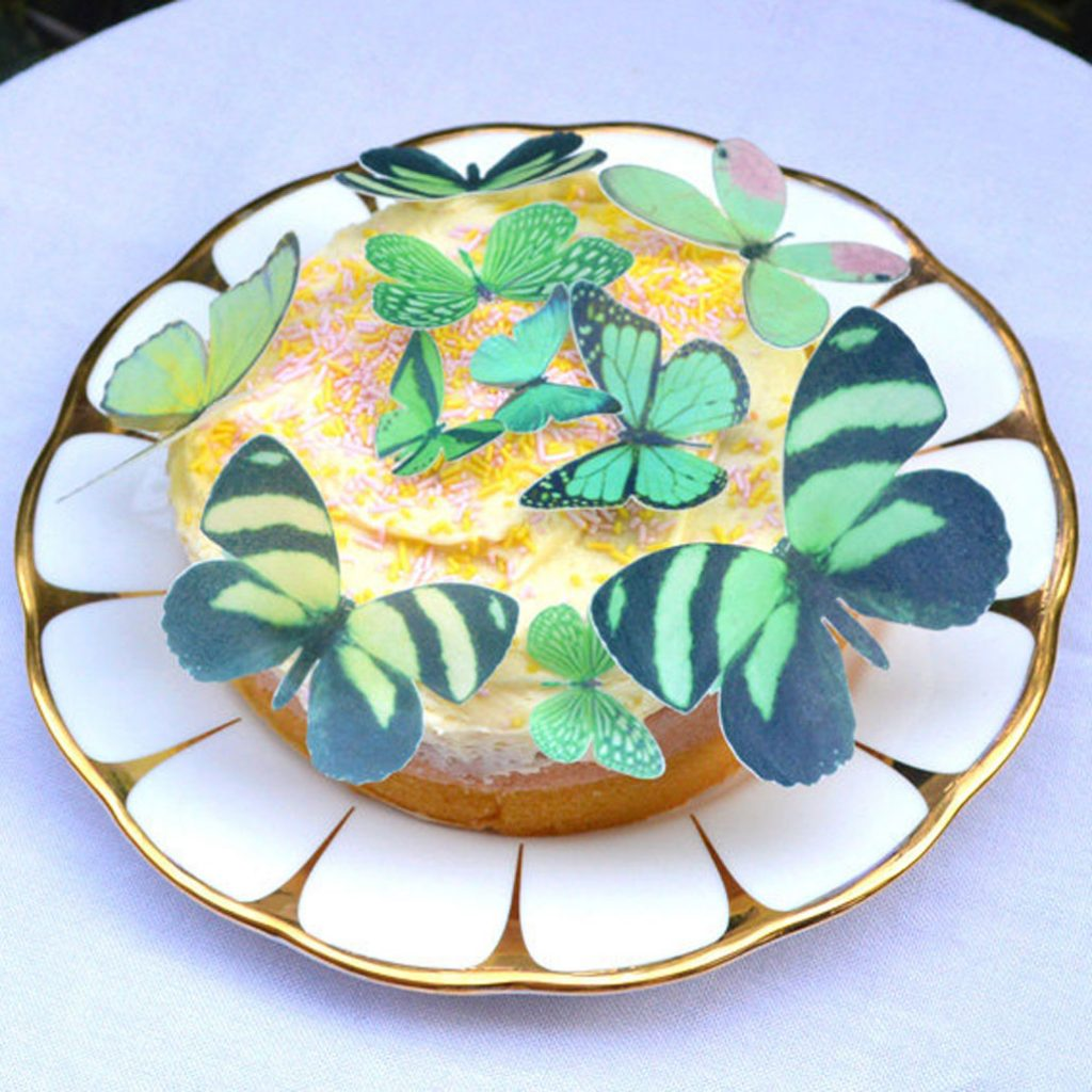 Wickstead's-Eat-Me-Edible-Sugar-Free-Vanilla-Wafer-Rice-Paper-3D-Butterflies-Green-(1)