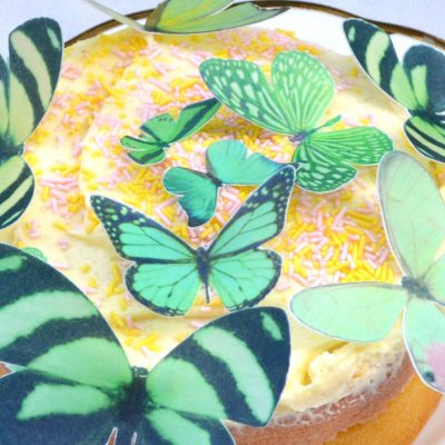 Wickstead's-Eat-Me-Edible-Sugar-Free-Vanilla-Wafer-Rice-Paper-3D-Butterflies-Green-(2)