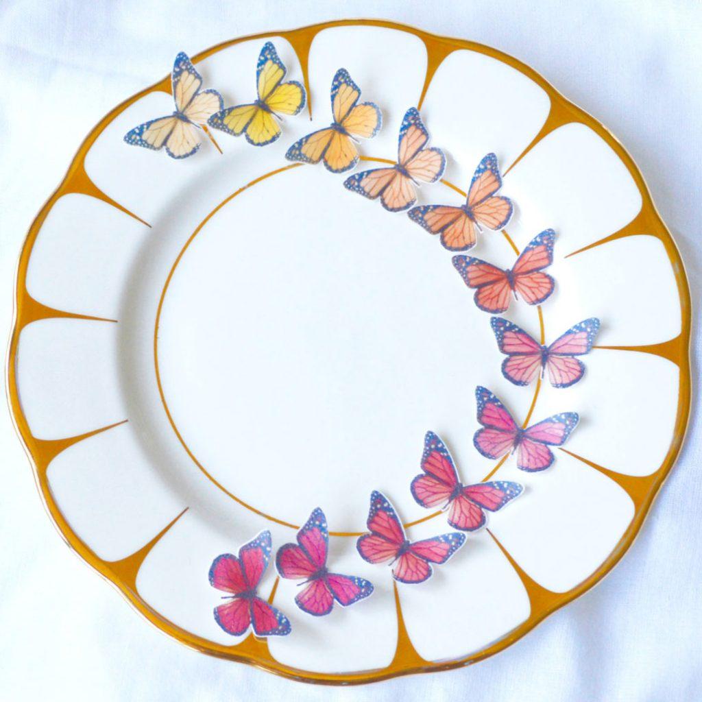 Wickstead's-Eat-Me-Edible-Sugar-Free-Vanilla-Wafer-Rice-Paper-3D-Butterflies–Ombre-Sunset-Butterfly-(1)