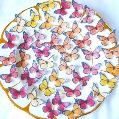 Wickstead's-Eat-Me-Edible-Sugar-Free-Vanilla-Wafer-Rice-Paper-3D-Butterflies–Ombre-Sunset-Butterfly-(2)