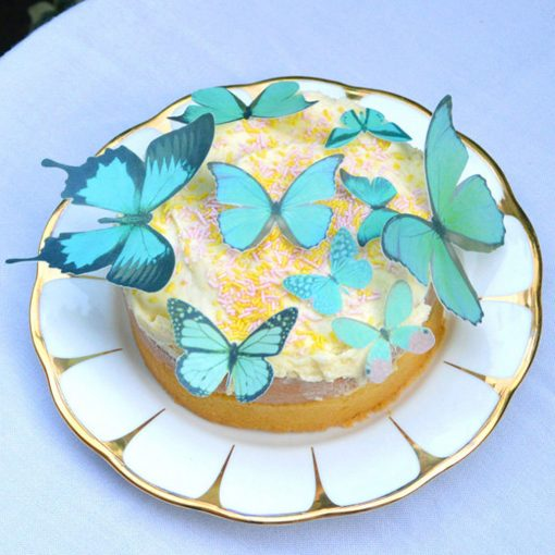 Wickstead's-Eat-Me-Edible-Sugar-Free-Vanilla-Wafer-Rice-Paper-3D-Butterflies-Turquoise-(1)