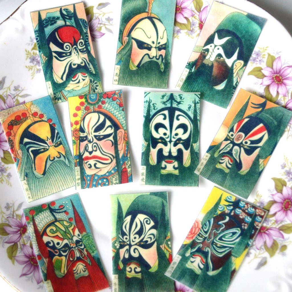 Wickstead's-Eat-Me-Edible-Sugar-Free-Vanilla-Wafer-Rice-Paper-Antique-Chinese-Opera-Masks-(1)