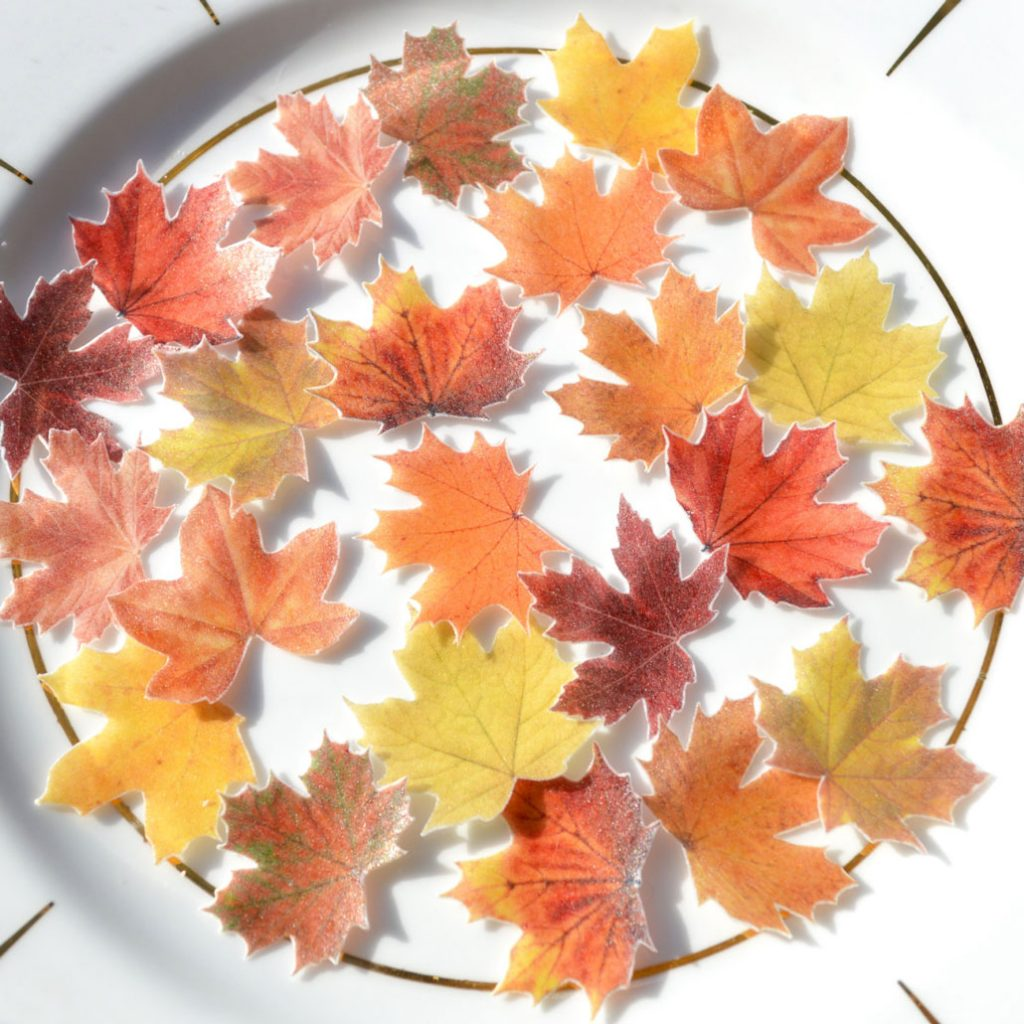 Wickstead's-Eat-Me-Edible-Sugar-Free-Vanilla-Wafer-Rice-Paper-Autumn-Fall-Maple-Leaves-Leaf-(8)