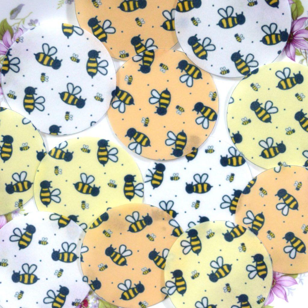 Wickstead's-Eat-Me-Edible-Sugar-Free-Vanilla-Wafer-Rice-Paper-Bee-Chintz-Circles