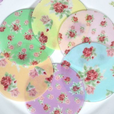 Edible Cottage Chic Floral Chintz Circles
