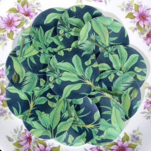 Wickstead's-Eat-Me-Edible-Sugar-Free-Vanilla-Wafer-Rice-Paper-Tropical-Jungle-Green-Leaves-Chintz-(2)