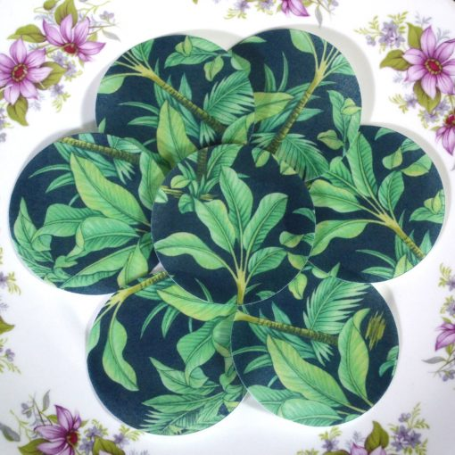 Wickstead's-Eat-Me-Edible-Sugar-Free-Vanilla-Wafer-Rice-Paper-Tropical-Jungle-Green-Leaves-Chintz
