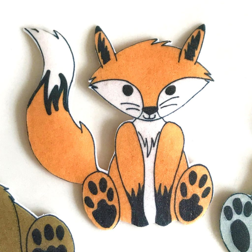 Wickstead's-Eat-Me-Edible-Wafer-Rice-Paper-Cute-Woodland-Animals-Fox