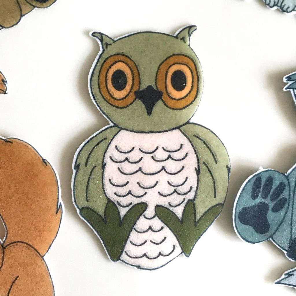 Wickstead's-Eat-Me-Edible-Wafer-Rice-Paper-Cute-Woodland-Animals-Owl