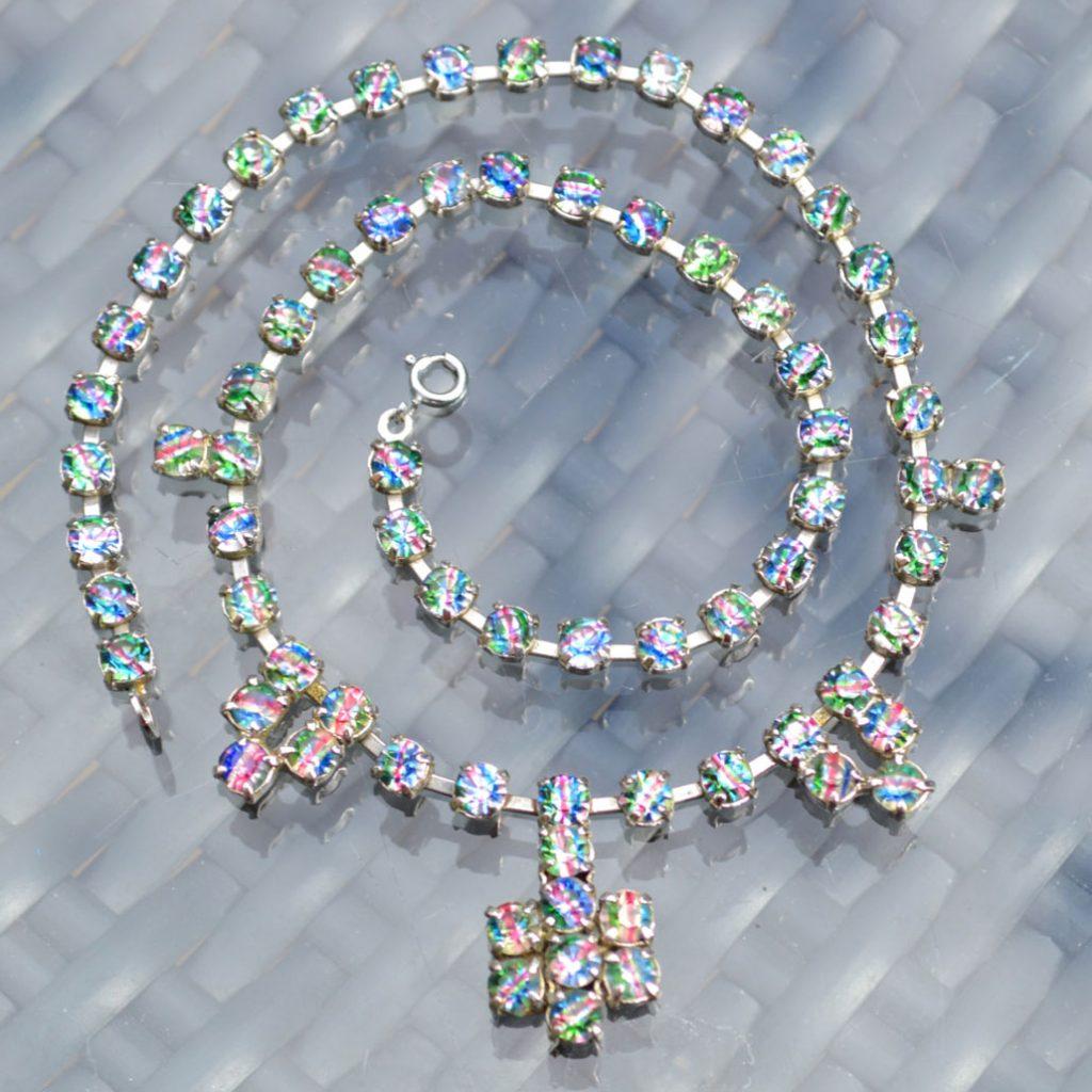 Wickstead's-Jewels-&-Treasures-1950s-Vintage-Iris-Rainbow-Diamanté-Rhinestones-Set-Necklace-(1)