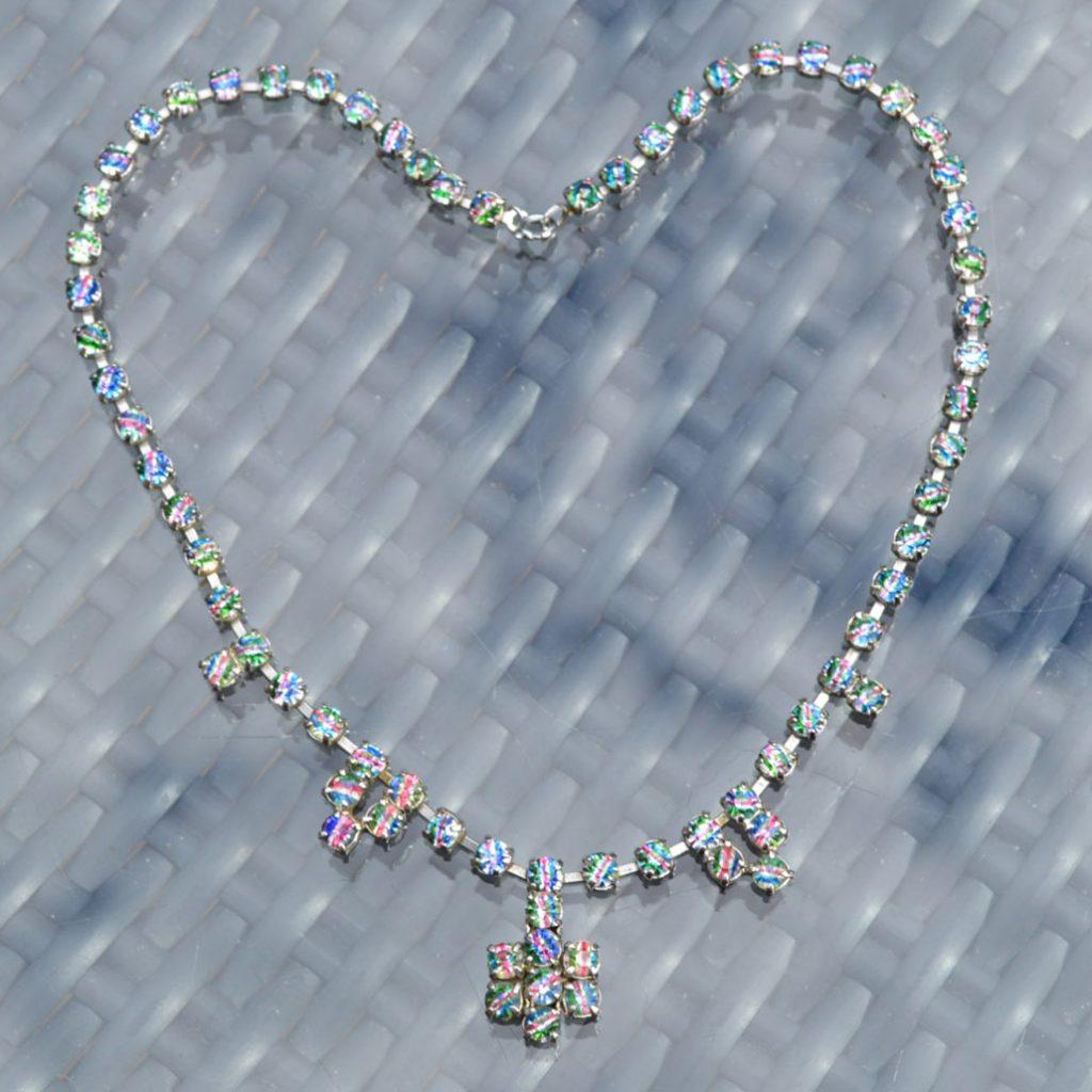 Wickstead's-Jewels-&-Treasures-1950s-Vintage-Iris-Rainbow-Diamanté-Rhinestones-Set-Necklace-(3)