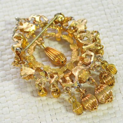 Wickstead's-Jewels-Treasures-Vintage-Gold-Brooch-Bead-Droplets-Faux-Pearls-Turquoise-Beads-(5)