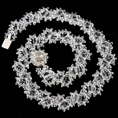 Wickstead's-Jewels-Treasures-Vintage-Woven-Clear-Multi-faceted-Glass-Crystal-Beads-Necklace-(1)