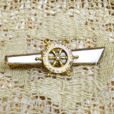 Wicksteads-Mr-Wickstead-Jewellery-Vintage-Tie-Bar-Clip-Spanish-Damascene-Toledo-Ware-Nautical-Ships-Wheel—Gold-Plated-(2)
