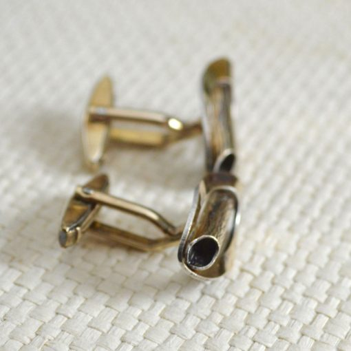 Wickstead's-Mr-Wickstead-Vintage-Cufflinks-9ct-Gold-Vermeil-Sterling-Silver–Oval-Fronts-with-Log-Bark-Effect-Detail-(3)