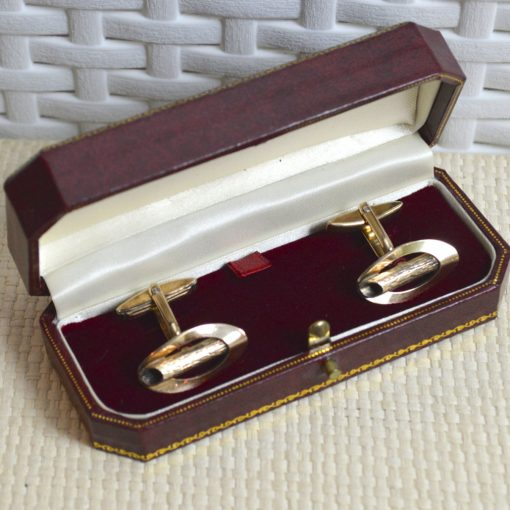 Wickstead's-Mr-Wickstead-Vintage-Cufflinks-9ct-Gold-Vermeil-Sterling-Silver–Oval-Fronts-with-Log-Bark-Effect-Detail-(5)