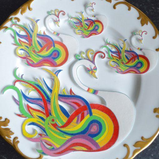 Wickstead's-Eat-Me-Edible-Sugar-Free-Vanilla-Wafer-Rice-Paper-Swan-Carnival-Rainbow-Swans-Pride-LGBT-(2)