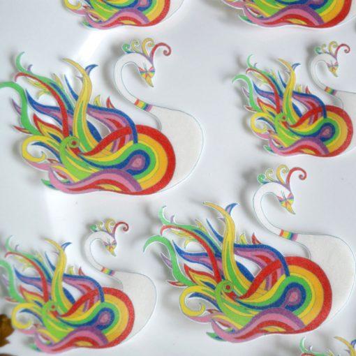 Wickstead's-Eat-Me-Edible-Sugar-Free-Vanilla-Wafer-Rice-Paper-Swan-Carnival-Rainbow-Swans-Pride-LGBT-(4)