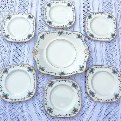 Wickstead's–Home-&-Living–Art-Deco-English-Tuscan-Hand-Painted-Plates-(1)
