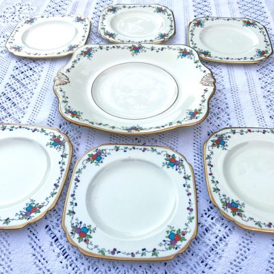 Wickstead's–Home-&-Living–Art-Deco-English-Tuscan-Hand-Painted-Plates-(3)