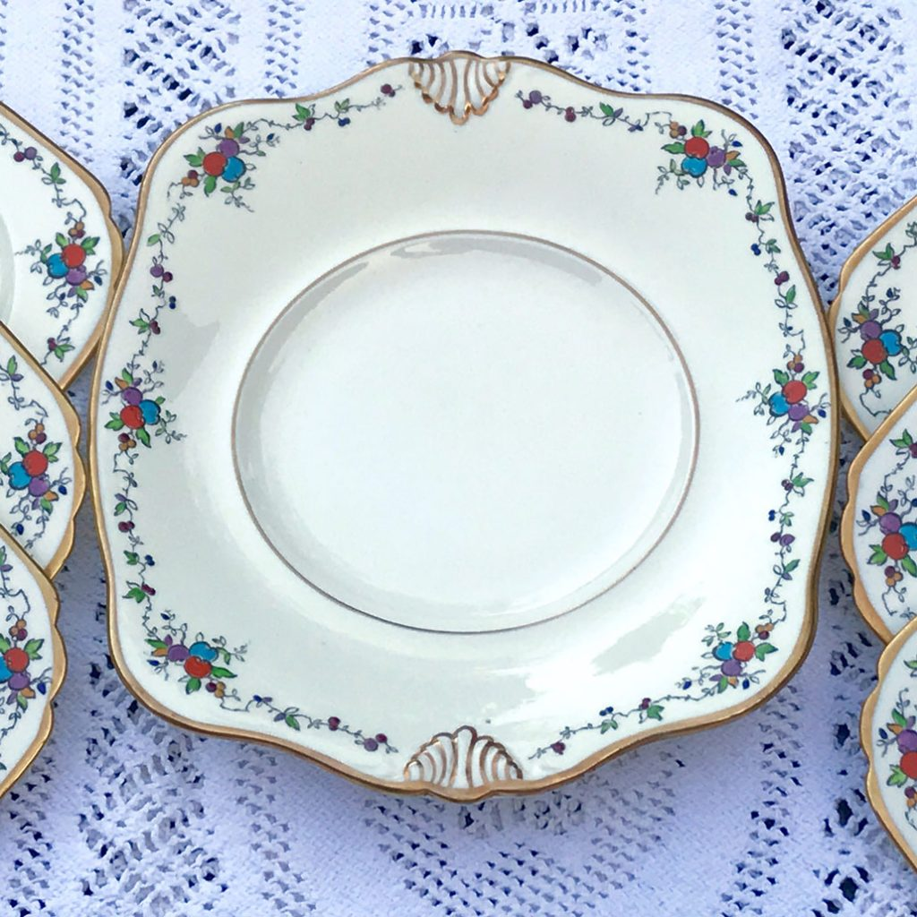 Wickstead's–Home-&-Living–Art-Deco-English-Tuscan-Hand-Painted-Plates-(4)