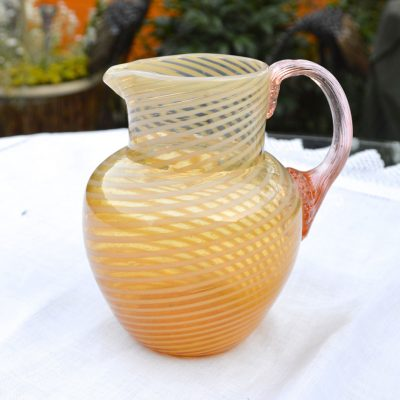 Wickstead's-Home-&-Living-Victorian-Salmon-Pink-Blown-Glass-Jug-(1)