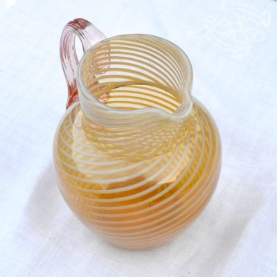 Wickstead's-Home-&-Living-Victorian-Salmon-Pink-Blown-Glass-Jug-(4)