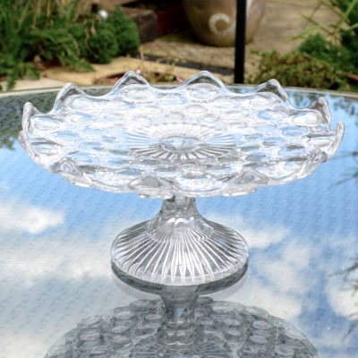 Wickstead's-Home-&-Living-Vintage-Clear-Pressed-Bubbles-Glass-Pedestal-Cake-Stand-(4)