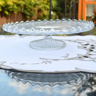 Wickstead's-Home-&-Living-Vintage-Clear-Pressed-Star-Glass-Pedestal-Cake-Stand-(2)