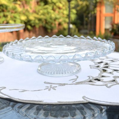 Wickstead's-Home-&-Living-Vintage-Clear-Pressed-Star-Glass-Pedestal-Cake-Stand-(5)