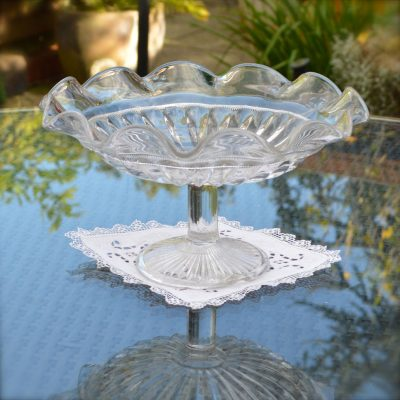 Wickstead's-Home-&-Living-Vintage-Clear-Pressed-Tazza-Glass-Pedestal-Cake-Stand-(1)