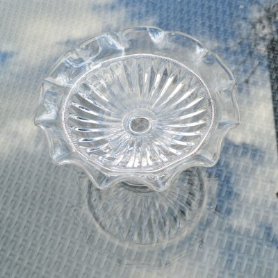 Wickstead's-Home-&-Living-Vintage-Clear-Pressed-Tazza-Glass-Pedestal-Cake-Stand-(4)