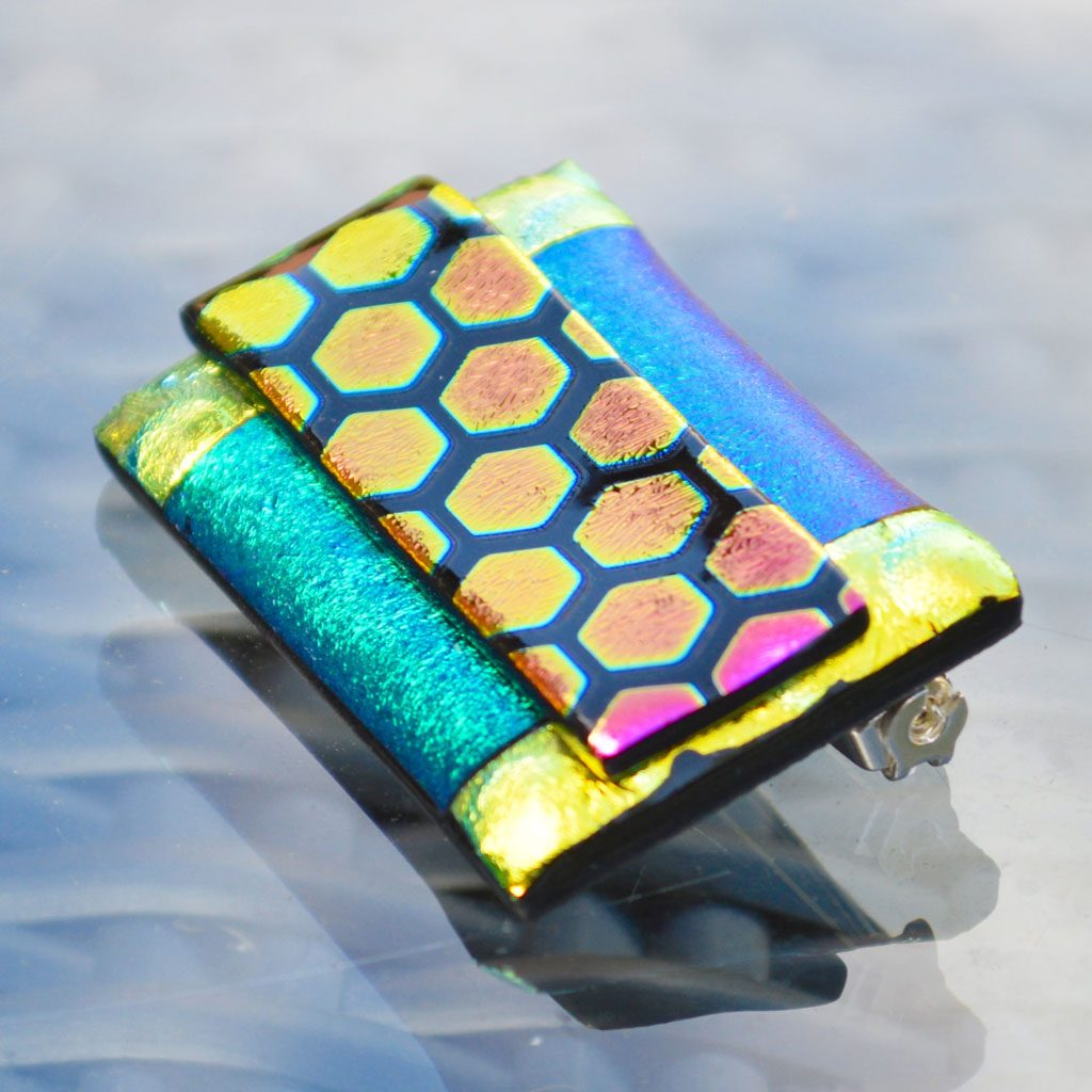 AWD-Large-Dichroic-Brooch-patterned-Honeycomb-(4)