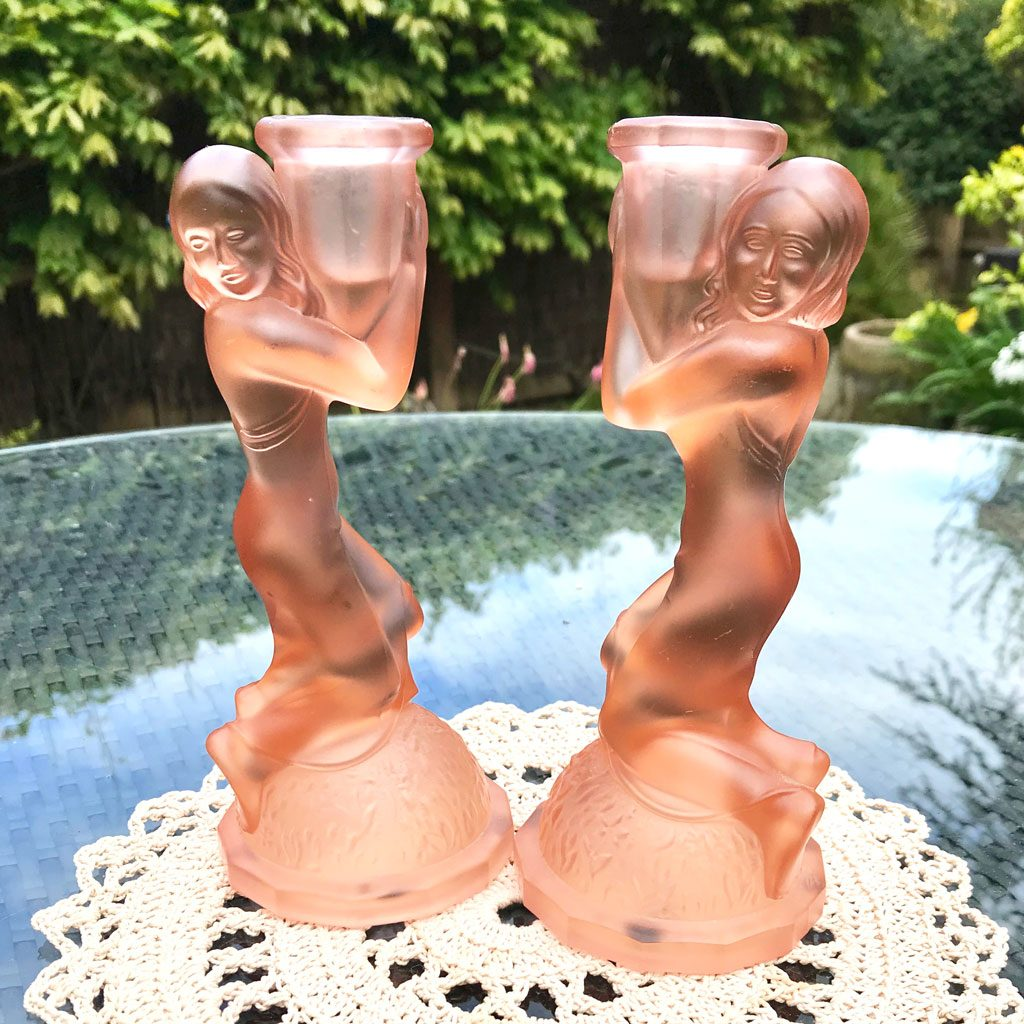 Art-Deco-Pink-Glass-Kneeling-Maidens-Candle-Holders-(1)