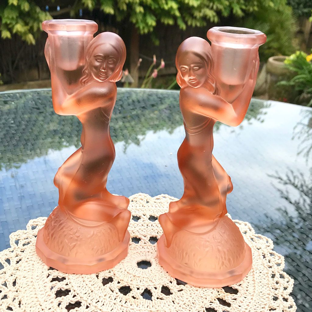 Art-Deco-Pink-Glass-Kneeling-Maidens-Candle-Holders-(4)