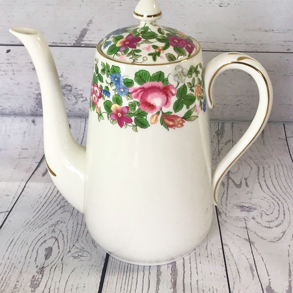 Crown-Staffordshire-Thousand-Flowers-Coffee-Pot-(1)-