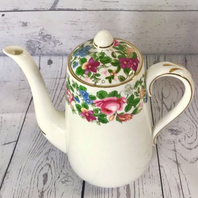 Crown-Staffordshire-Thousand-Flowers-Coffee-Pot-(2)-