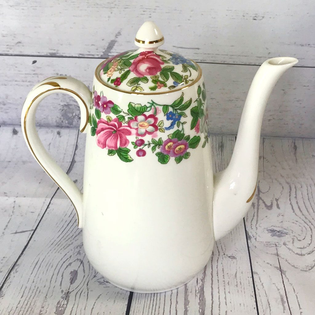 Crown-Staffordshire-Thousand-Flowers-Coffee-Pot-(4)-