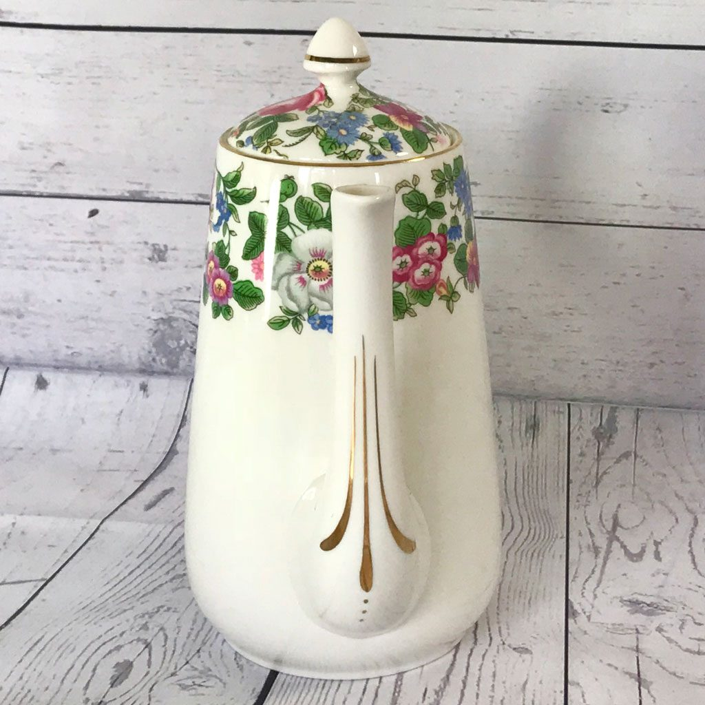 Crown-Staffordshire-Thousand-Flowers-Coffee-Pot-(5)-