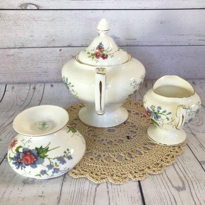 Crwon-Staffordhsire-England's-Glory-Teapot-Trio-(4)