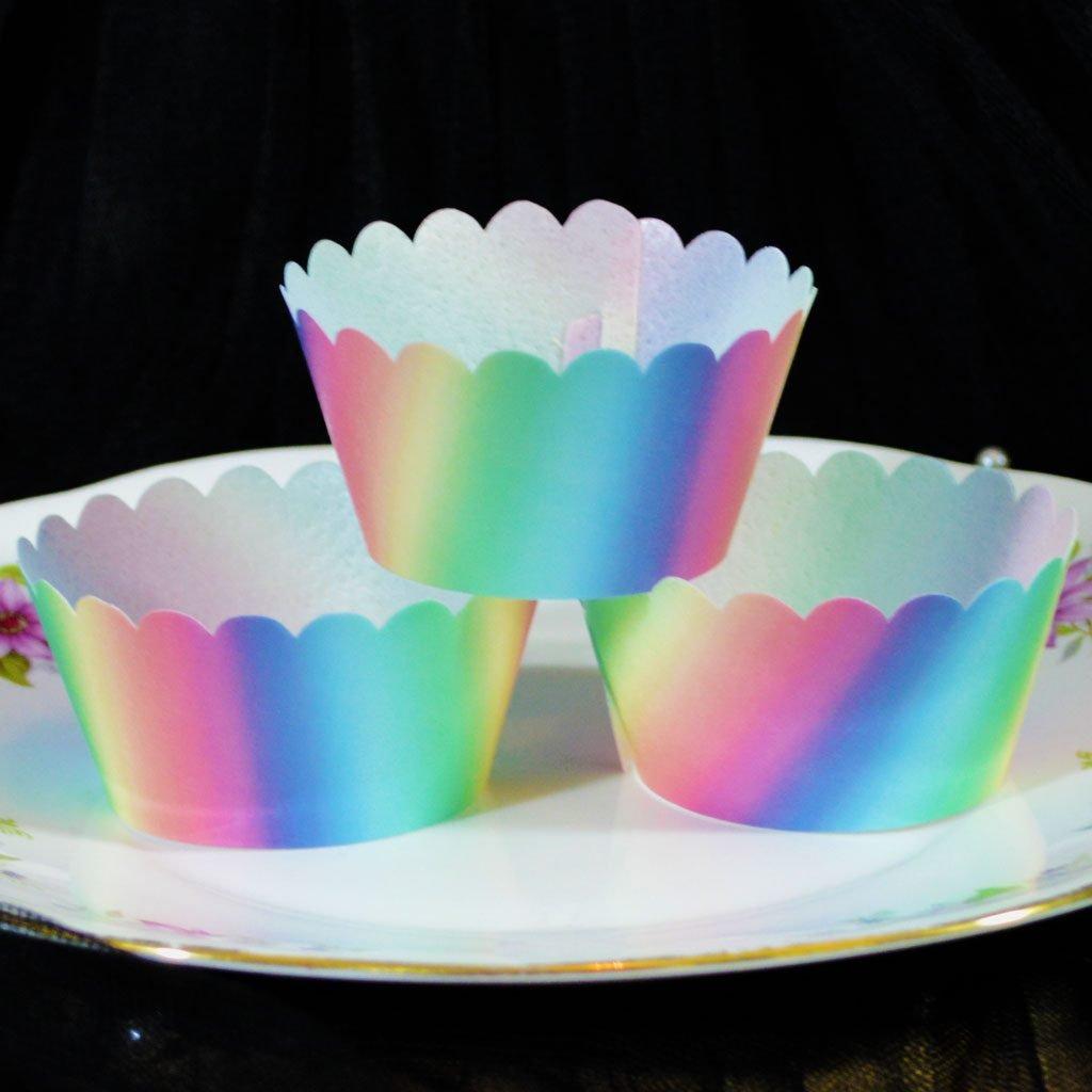 Wickstead's-Eat-Me-100%-Edible-Cupcake-Wrappers-Unicorn-Sherbet-Rainbow-(1)