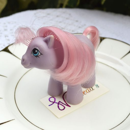 Wickstead's—Home-&-Living—Vintage-My-Little-Pony-Baby-Purple-Ember–G1—1984-(4)