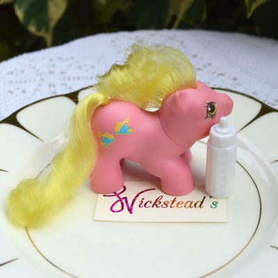 Wickstead's—Home-&-Living—Vintage-My-Little-Pony-Newborn-Baby-Tappy-with-Bottle–G1—1987-(1)