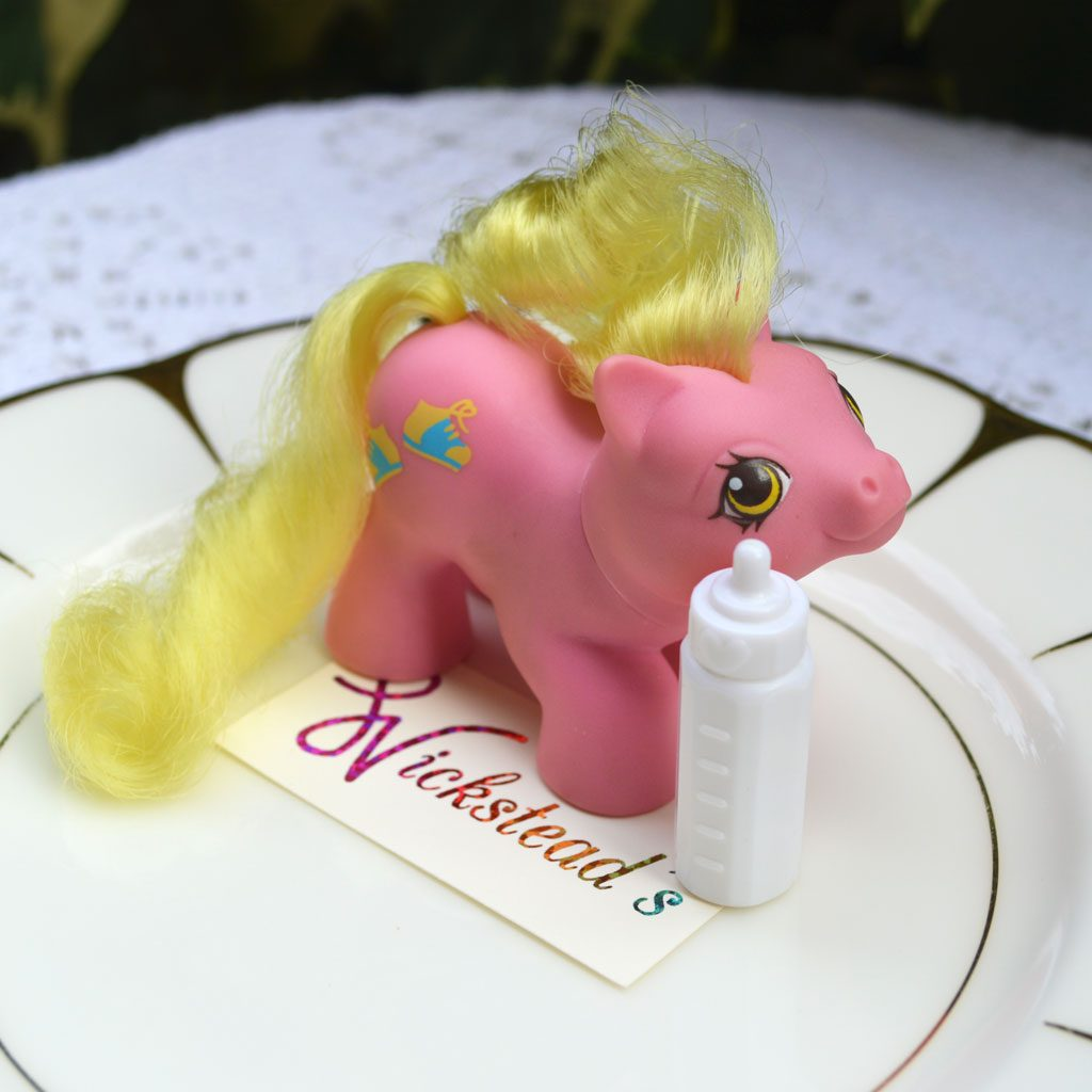 Wickstead's—Home-&-Living—Vintage-My-Little-Pony-Newborn-Baby-Tappy-with-Bottle–G1—1987-(2)