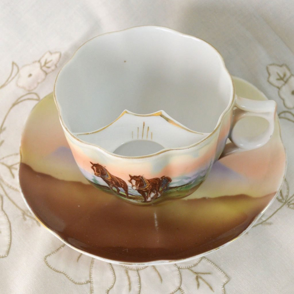 Wickstead's-Mr-Wickstead-Moustache-Cup-and-Saucer-Crown-Victoria-China-Austria—Horses-(4)