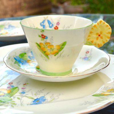 Wicksteads-Home-&-Living-Vintage-Teacup-Saucer-Cake-Plate-Paragon-Yellow-Primrose-(2)