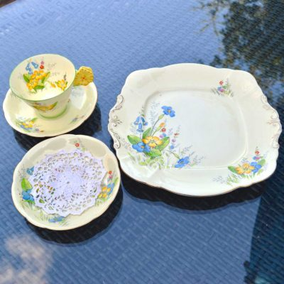 Wicksteads-Home-&-Living-Vintage-Teacup-Saucer-Cake-Plate-Paragon-Yellow-Primrose-(3)