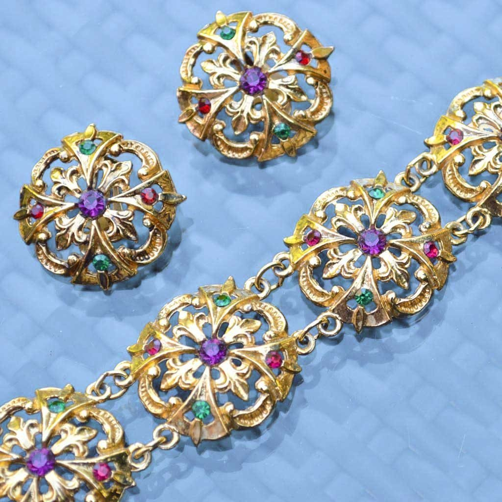 Wicksteads-Jewels-and-Treasures-Vintage-Clip-Earring-and–Bracelet-(2)