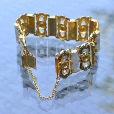 Wicksteads-Jewels-and-Treasures-Vintage-Damascene-Bracelet-(1)