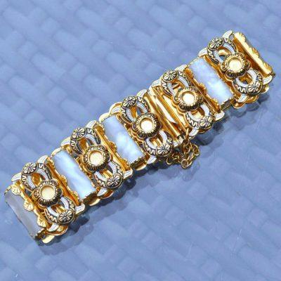 Wicksteads-Jewels-and-Treasures-Vintage-Damascene-Bracelet-(2)
